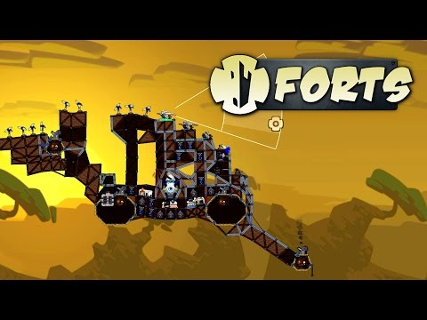 Forts - Best Cannon Fort Ever! - Let's Play Forts Multiplayer Gameplay