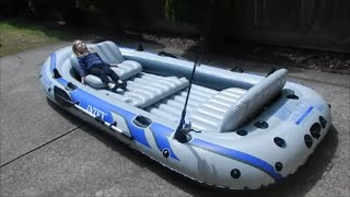 Intex Excursion 5 inflatable boat review part 1