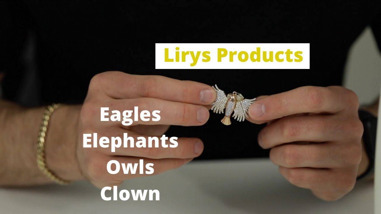 Genuine Gold Eagle, Owl, and Clown Pendants and Charms — Lirys Product Review