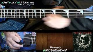 [ ARCH ENEMY - Nemesis ] How to play part 1/2 [ guitar cover ]