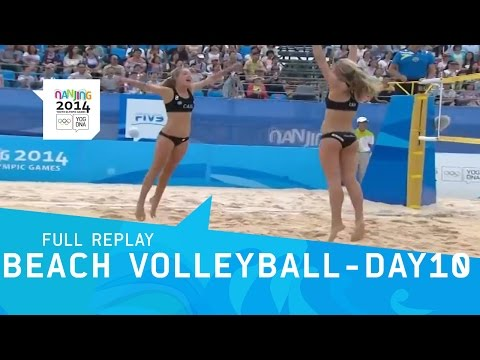 Beach Volleyball - Day 10 women's Semi-Finals | Full Replay | Nanjing 2014 Youth Olympic Games