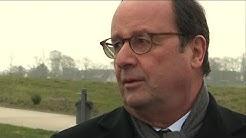 Autisme : Visite de François Hollande dans l'usine Novandie à Auneau (Eure-et-Loir)