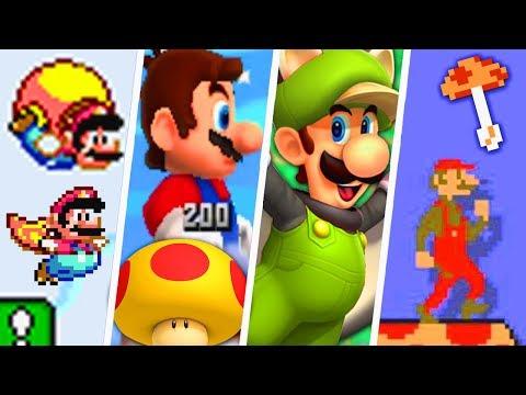 Evolution Of Unique 2D Super Mario Power-Ups (1988 - 2018)