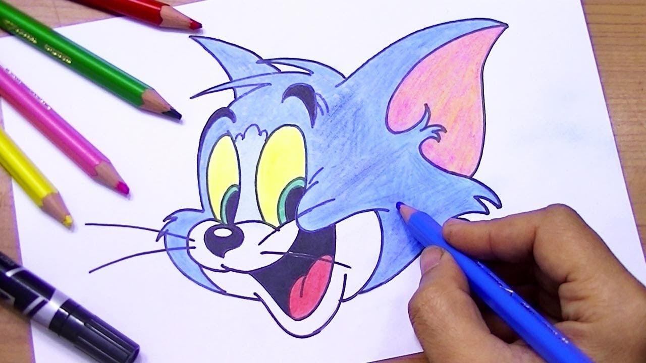 رسم شخصية توم من الكرتون الرائع توم وجيري Youtube Hand Embroidery Art Easy Flower Drawings Flower Drawing