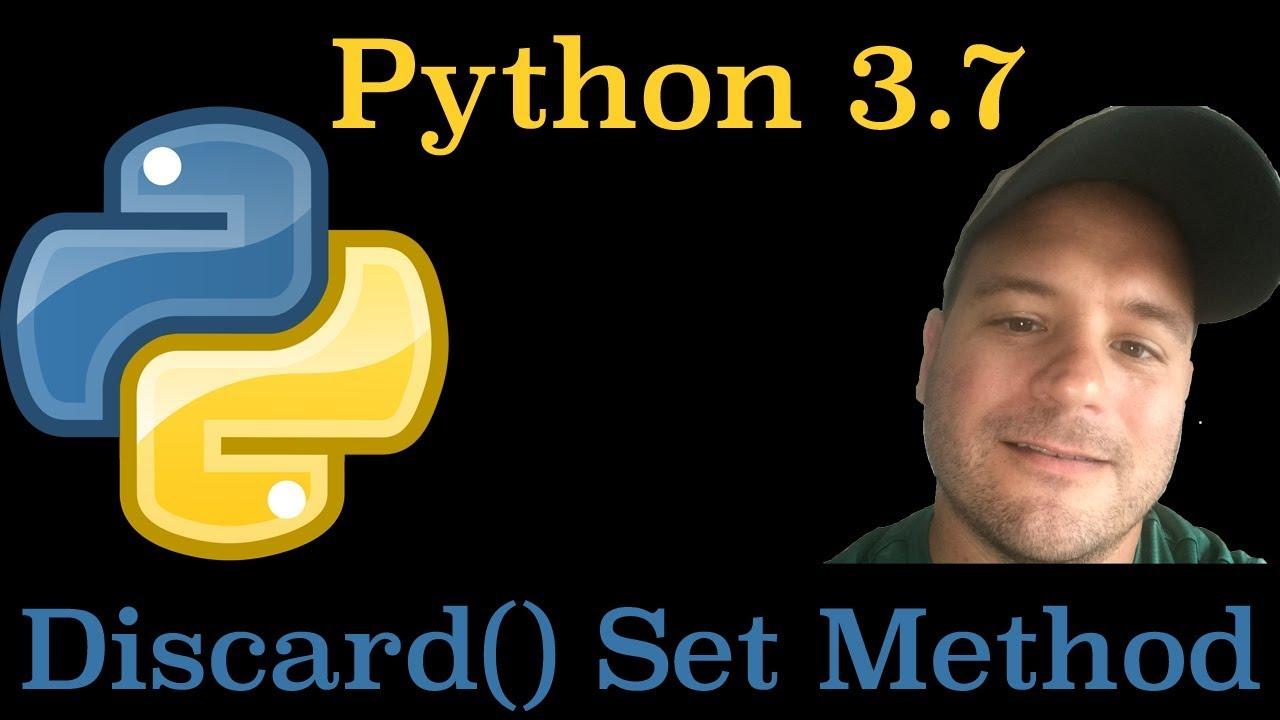python set discard