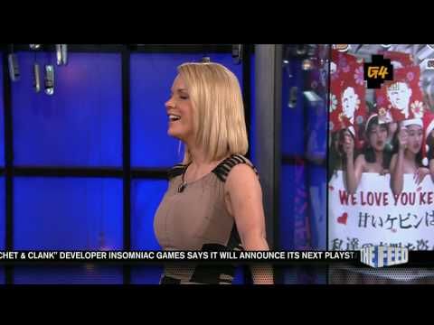 Carrie Keagan bouncing on Attack of the Show 8/2/10 HDTV