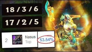 LUNAR GUARDIAN NASUS GOES SUPER SAIYAN WHEN HE ULTS!! ONE SHOTS WITH 1K STACKS - (League of Legends)