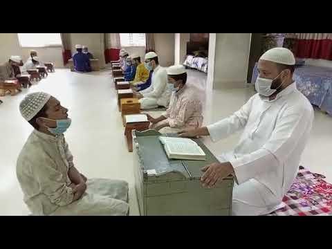 স্বাস্থ্যবিধি মেনে যাত্রাবাড়ীর তাহফিজুল কুরআন মাদরাসায় চলছে পাঠদান