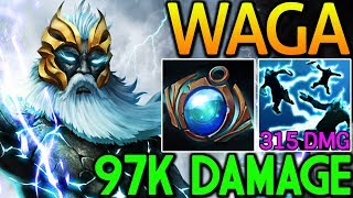 Wagamama [Zeus] Just Spam Q Deal 97k Damage 7.14 Dota 2