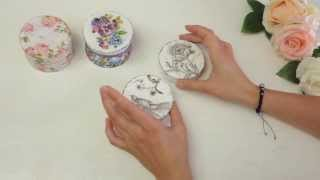 Декупаж шкатулки, эффект состаривания | Tavifa(, 2013-07-19T12:20:11.000Z)