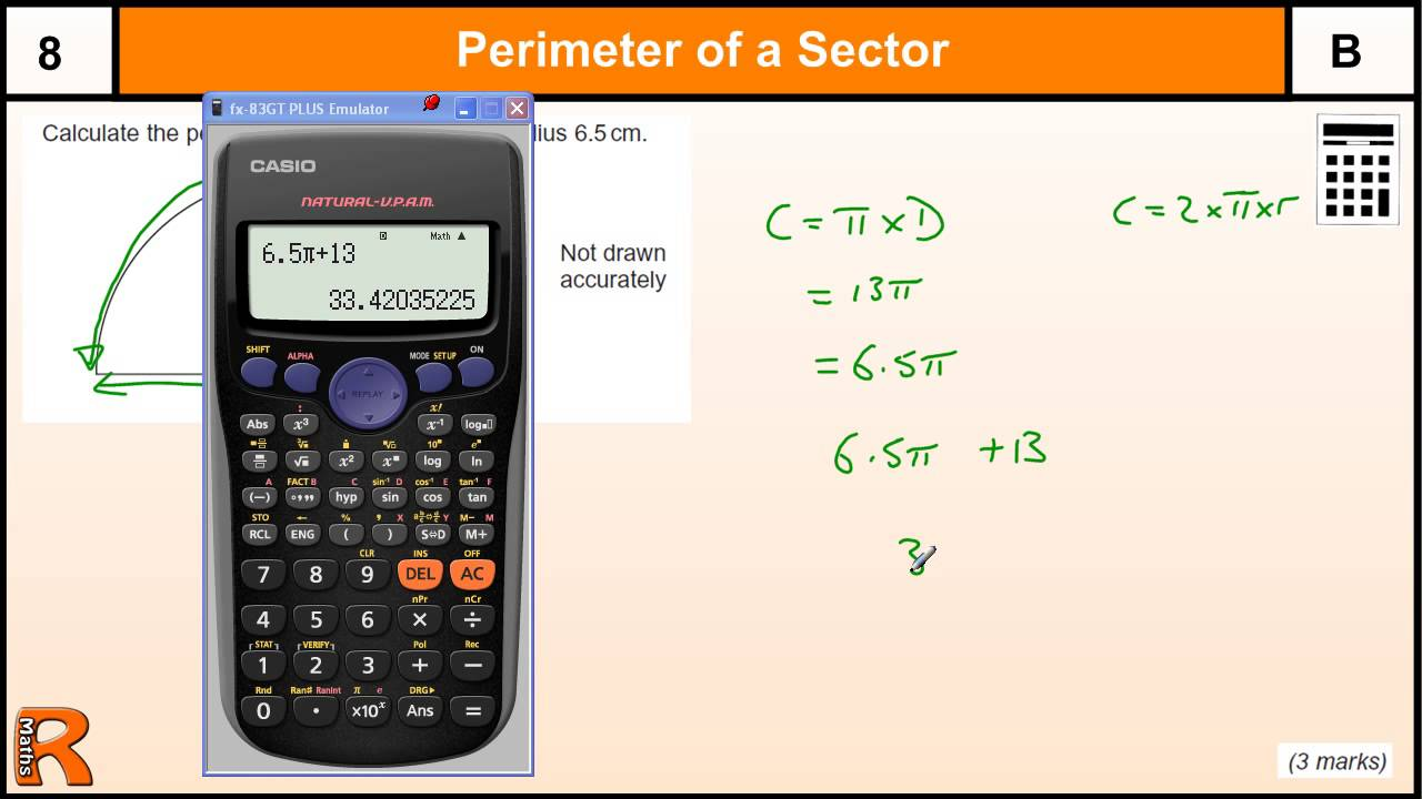Perimeter Of A Semicircle Gcse Maths Revision Exam Paper Practice & Help