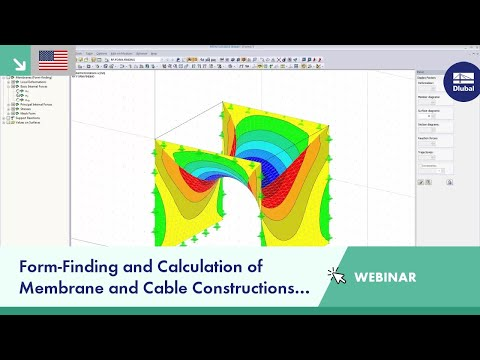 Dlubal Webinar: Form-Finding and Calculation of Membrane and Cable Constructions in RFEM