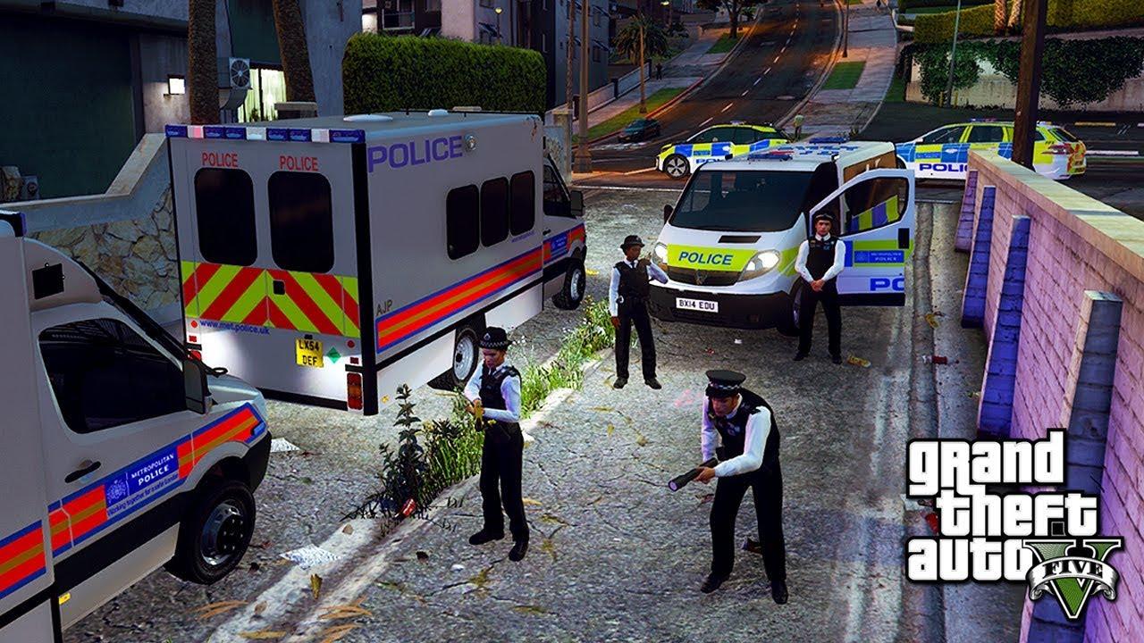 GTA 5 MODS UK POLICE | TSG/BSU POLICE SUPPORT | LSPDFR: THE BRITISH WAY #212