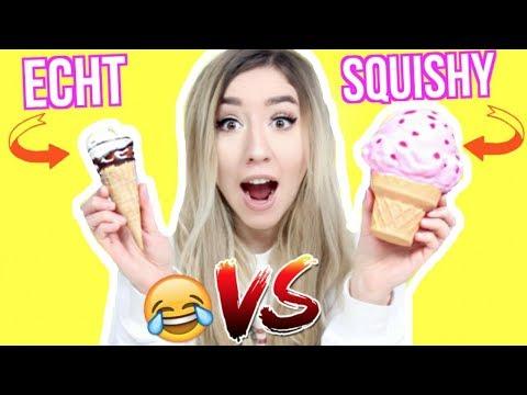 SPIELZEUG (SQUISHY Food) vs. ECHTES ESSEN
