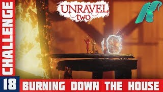 UNRAVEL 2 - Challenge 18 - BURNING DOWN THE HOUSE Gameplay Walkthrough