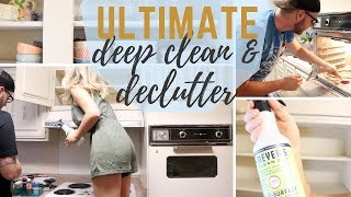 KONMARI METHOD KITCHEN DECLUTTER & DEEP CLEAN | EM AT HOME