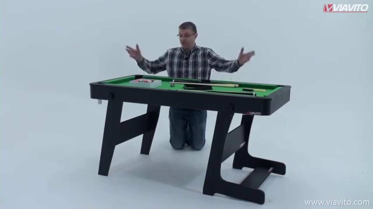 - Viavito PT100X 5ft Folding Pool Table Assembly Video - YouTube