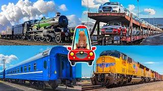 Поезда для детей. Изучаем виды вагонов. Транспорт для детей