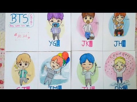Bts Cute Chibi Drawings Drawing All Bts Members Suga Jungkook