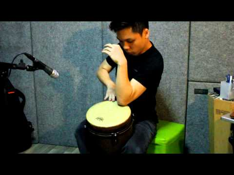 Remo Djembe Solo (Contemporary) - Earth Demo