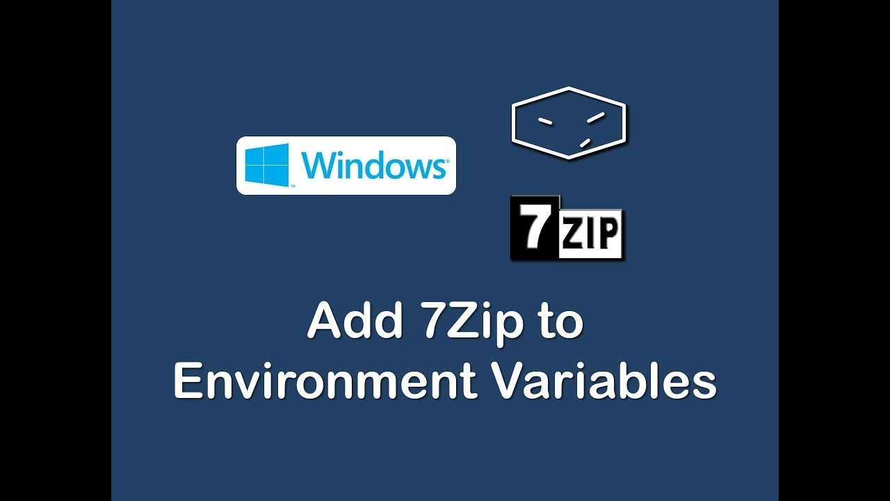 add 7zip to environment variables on windows