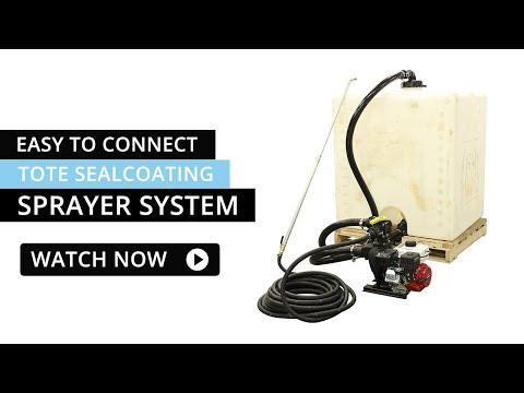 Easy Connect Tote Sealcoating Sprayer System | Asphalt Kingdom