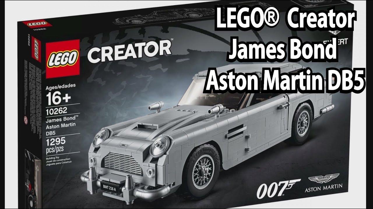 Lego James Bond Aston Martin Db5 Creator Expert Set 10262