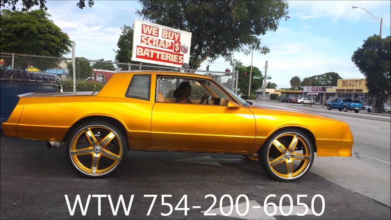 "Chevy Monte Carlo 2015 >> Acewhips.NET- WTW Customs- Candy Gold Chevy Monte Carlo on 26"" ASANTIS - YouTube"