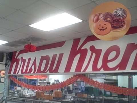 Inside a Krispy Kreme store in Long Beach  October 2010