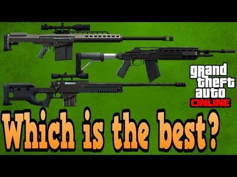 GTA online guides - Heavy sniper VS Standard sniper VS marksman rifle