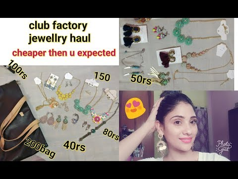 club factory jewellry haul || part 3 || most affordable jewelry || shy styles