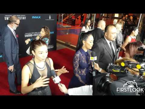 Juju Chan at the US premiere of Crouching Tiger Hidden Dragon  Sword of Destiny