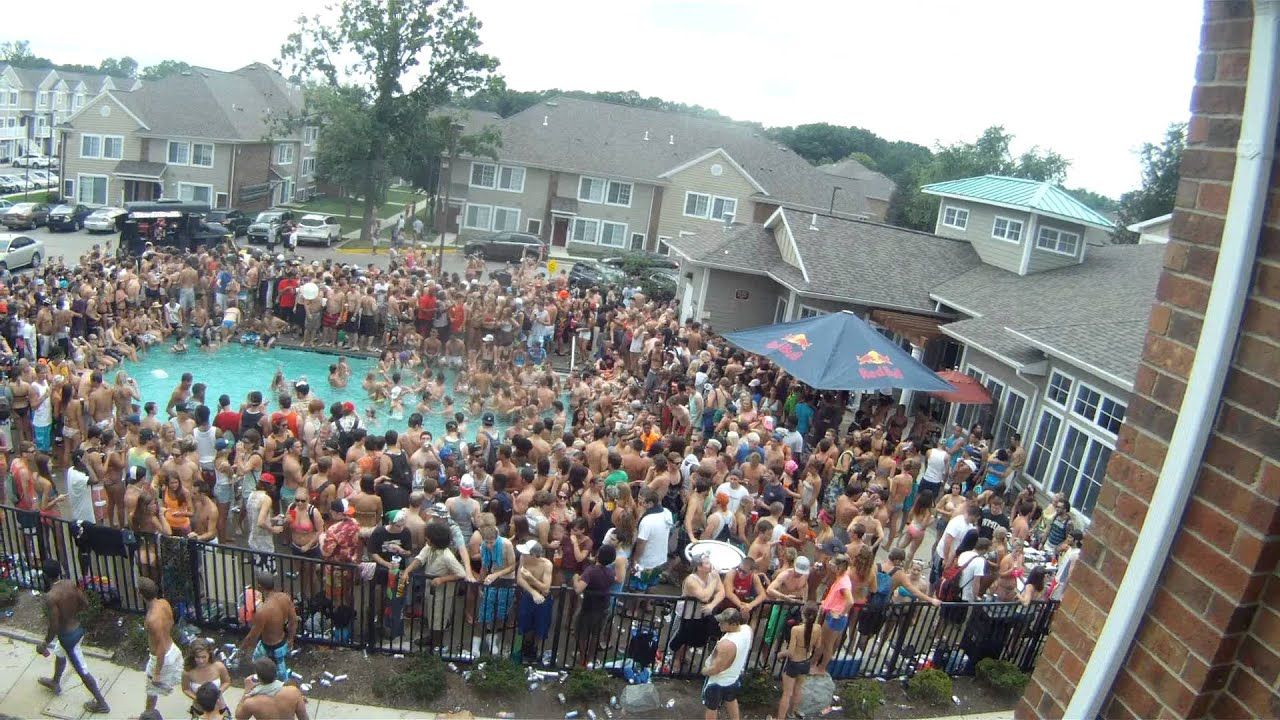 Wmu red bull pool party youtube for Pool show michigan