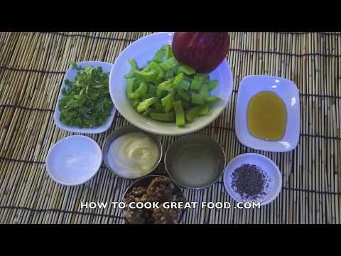 Waldorf Salad Recipe - Classic Celery Walnut & Apple Mayo Video