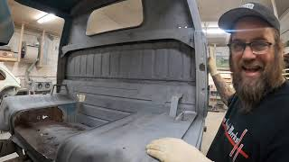 Scotts 61 Volkswagen Shorty is on the Frame Jig