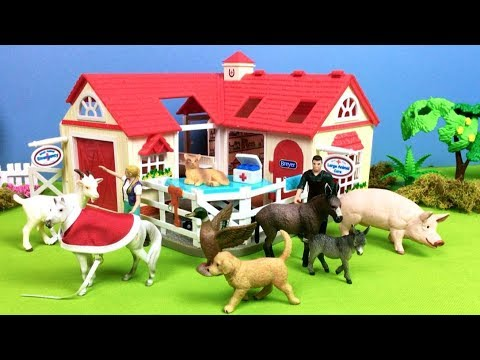 Farm Animals Hospital Care Station For Kids Babies - Build and Play - Fun Video