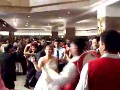 wedding reception in the lobby