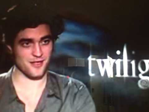 Robert Pattinson Another Funny Interview [ He does his dazzle look ]