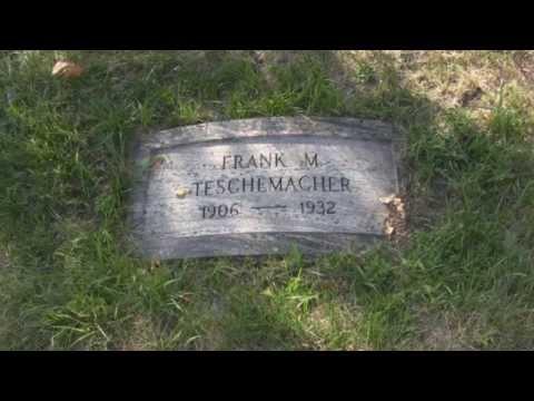 Frank Teschemacher final resting place - Woodlawn Cemetery - Forest Park, IL