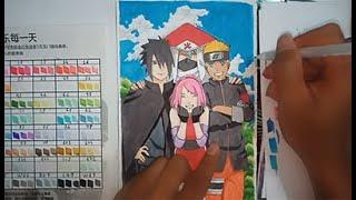 Vẽ Naruto , Sasuke , Sakura , Kakashi | Speed Drawing | Naruto Shippuden -  Marker touchliit - ART