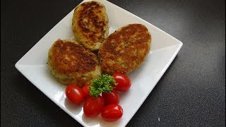 Котлеты из куриного фарша и кабачков Chicken and courgettes cutlets