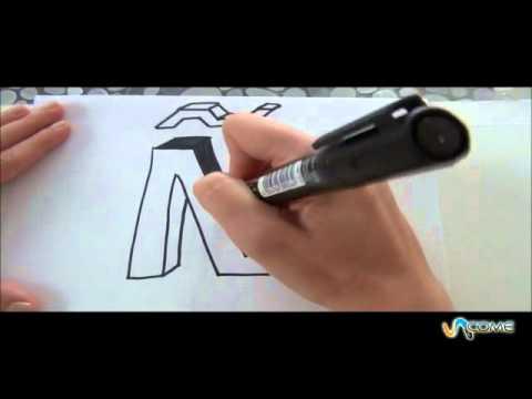 Come disegnare la lettera n in 3d youtube for Disegnare una stanza in 3d