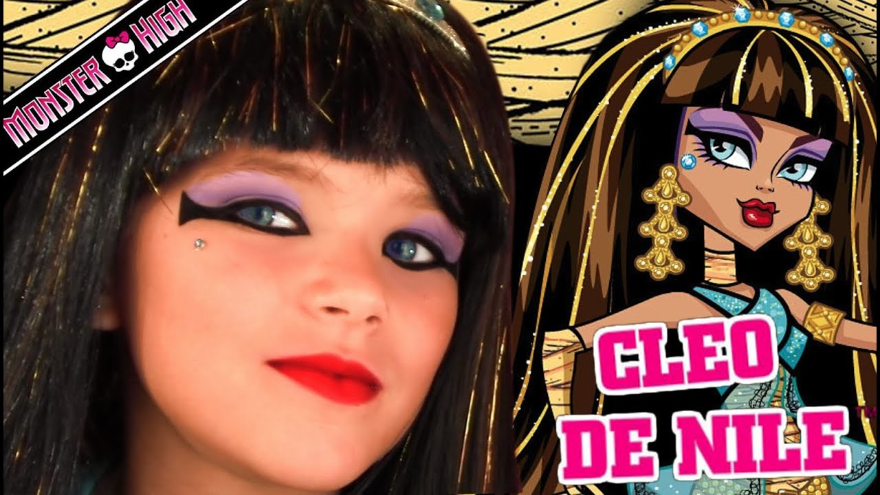 Cleo de nile monster high doll costume makeup tutorial for cleo de nile monster high doll costume makeup tutorial for halloween youtube baditri Gallery