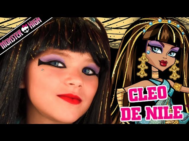 Cleo De Nile Monster High Doll Costume Makeup Tutorial for Halloween Travel Video