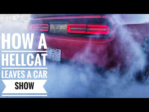 I Ripped a Big Fat Burnout in the Hellcat Challenger : Nick Murry Meet