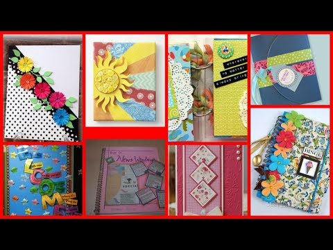 DIY beautiful Decoration ideas for notebook,project files,registers,Cover Page