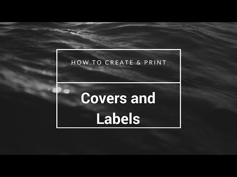 How to Create & Print CD Covers and Labels