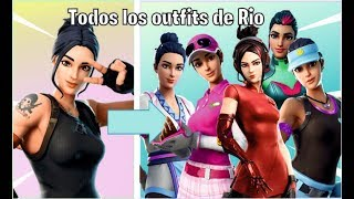 🔴 ALL RIO SKINS ALL FORTNITE BATTLE ROYALE OUTFITS 🔴
