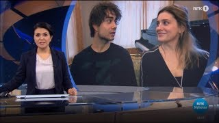 Alexander Rybak & Ingrid Berg Mehus: Interview NRK 28.02.19 - MGP 2019