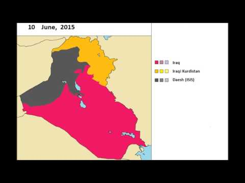 OLD: The Iraqi Civil War (jan. 2014 - july 2017) every day
